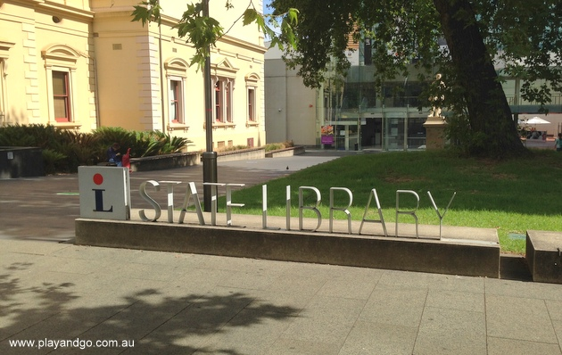state-library-signage