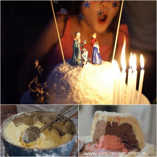 2014-03-09 frozen ice cream cake making