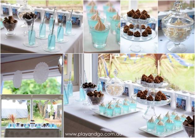 Frozen birthday food table