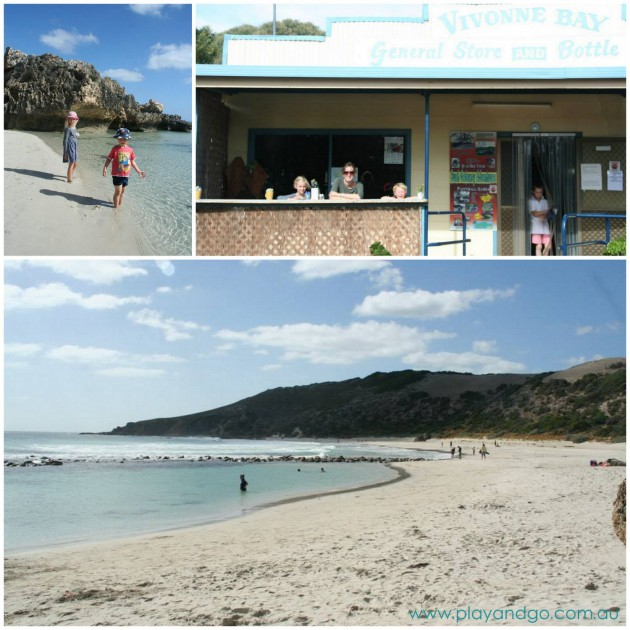 Kangaroo Island Holiday with kids Vivonne Bay