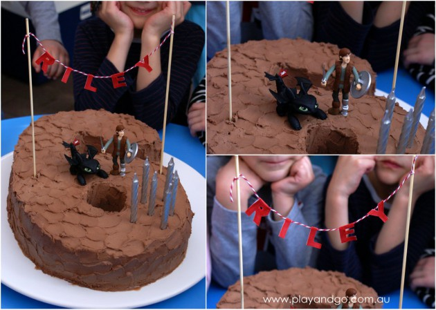 2014-08-26 How to train a dragon cake