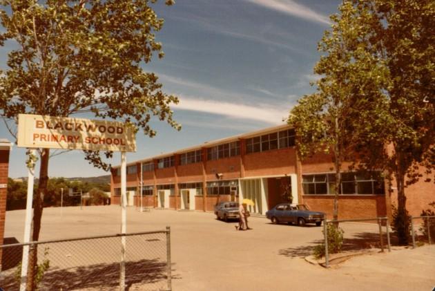 Blackwood Primary School front gate in 1970s