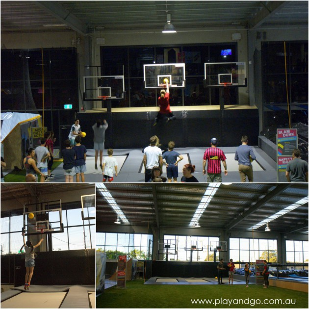Review of Bounce Adelaide indoor trampolining - bounce dunk basketball