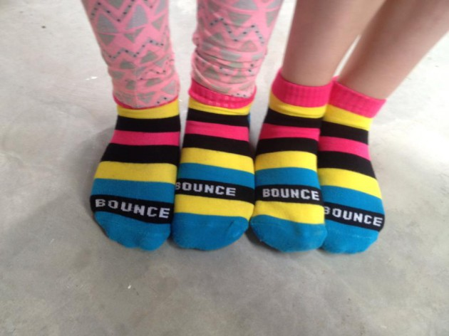 Review of Bounce Adelaide indoor trampolining - bounce socks: Thanks Heidi for this pic