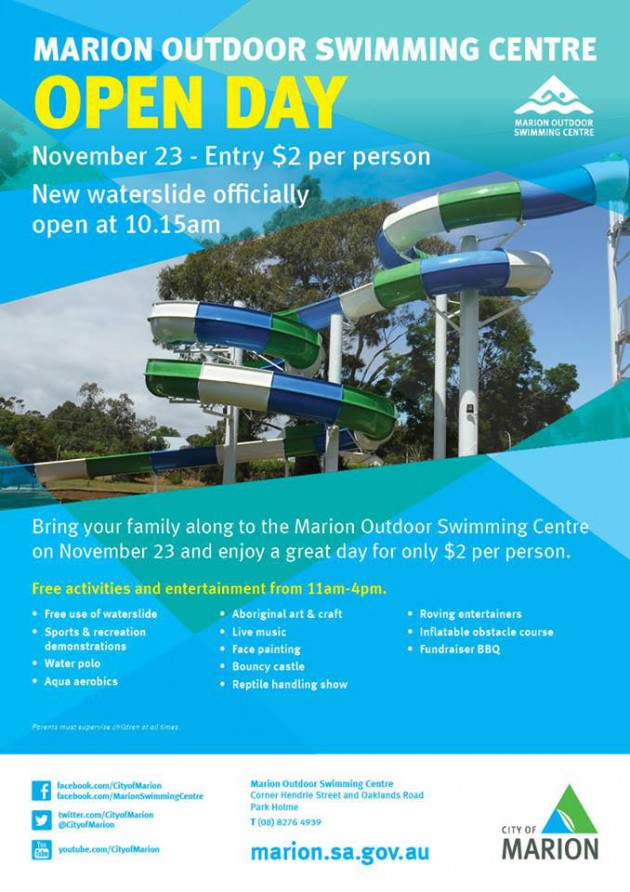 marion swimming centre open day