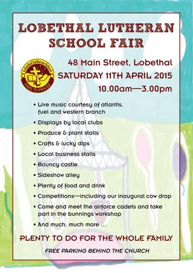 lobethal lutheran school fair program