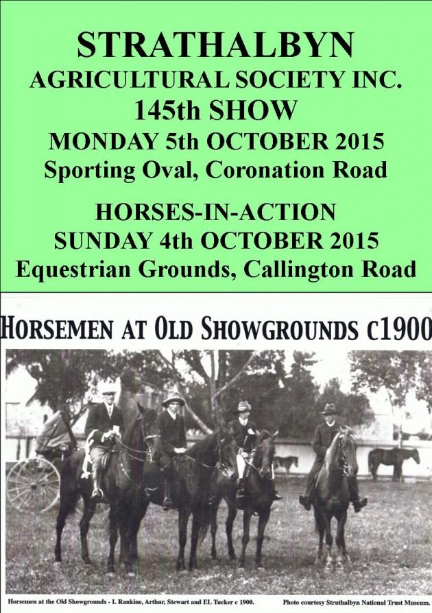 horsemen at showgrounds