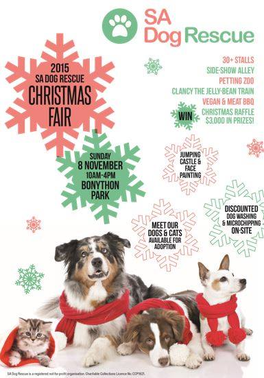 christmas fair sa dog rescue
