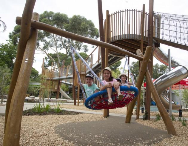 Adelaide Zoo Nature's Playground Swing-Photo by Dave Mattner