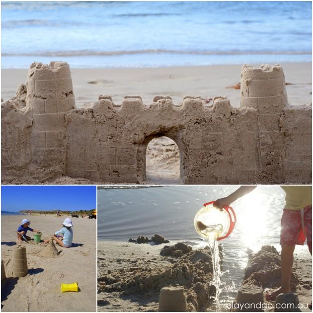 2013-01-20 henley beach sandcastles