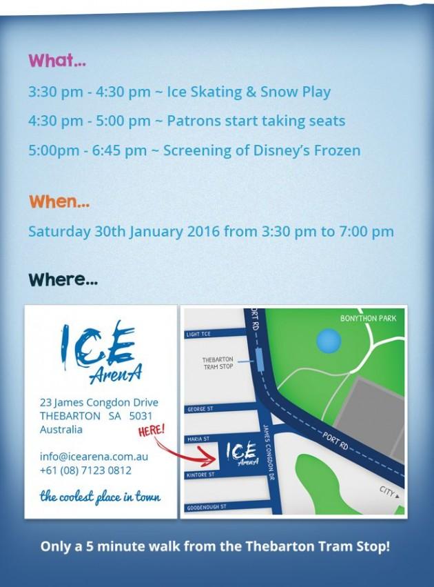 Frozen on ice schedule