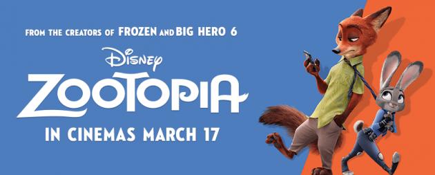 zootopia in cinemas mar 17