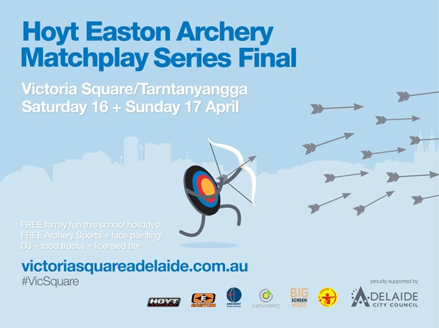Hoyt easton archery matchplay series final victoria square 16 17 apr 2016 what 39 s on for for Easton leisure centre swimming pool timetable