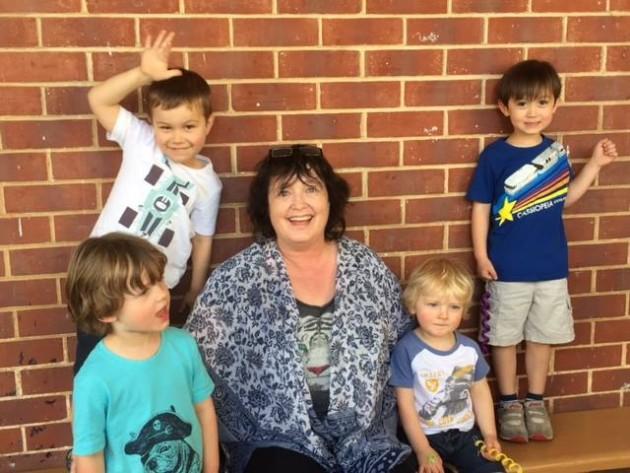 Kathy and kids Mini Musicians