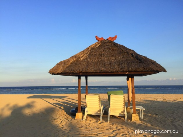 Nusa Dua beach in front of Grand Hyatt Bali