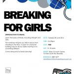 Free breakdance class for girls
