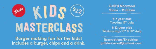 Grill'd Norwood Kids Masterclass
