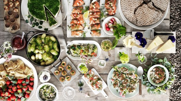 swedish midsummer smorgasbord