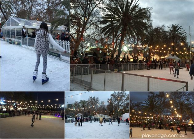 Alpine Winter Village ice skating rink in Adelaide