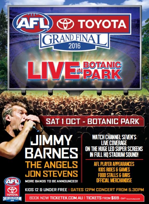 AFL Grand Final Live in Botanic Park