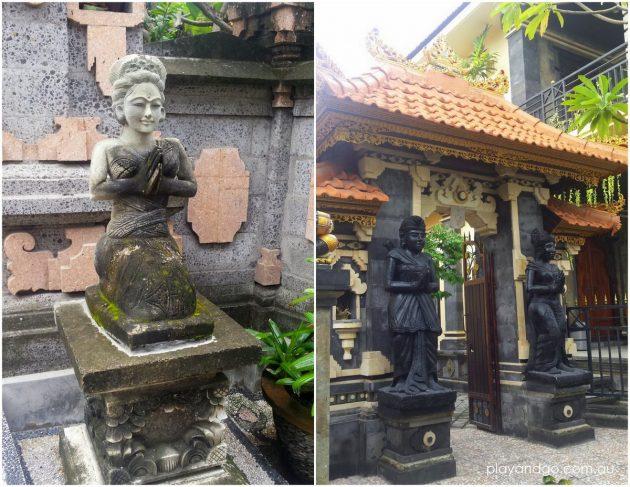 Bali Seminyak house entrance statues