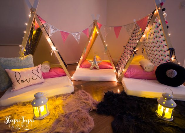 Sleepee Teepee Grand Bella The Ultimate Sleepover Party - Children's birthday parties adelaide