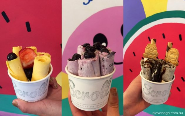 Ice Cream Places in Adelaide : Scroll ice cream