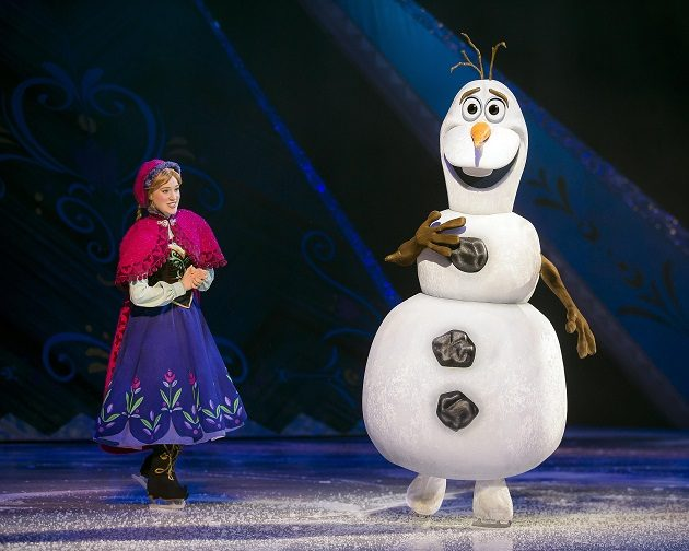 disney on ice Anna and Olaf