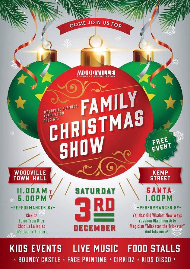 Christmas Event.Family Christmas Show Woodville Town Hall 3 Dec 2016