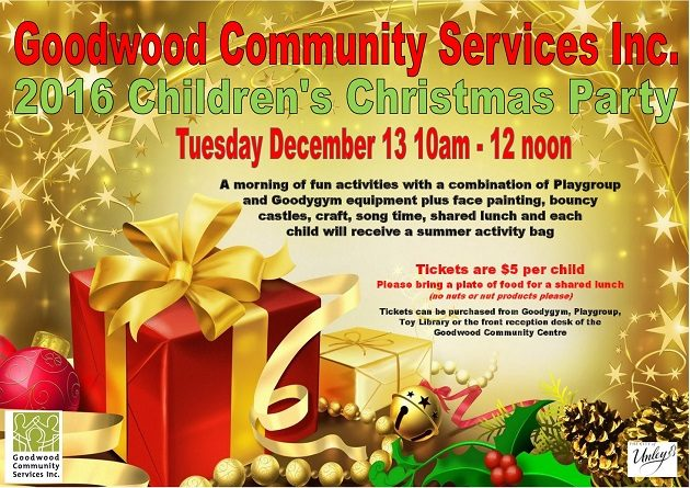 Goodwood community services childrens christmas party 13 dec 2016 goodwood community services childrens christmas party m4hsunfo