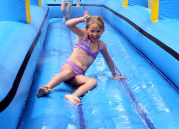 slipnslide inflatable waterpark adelaide