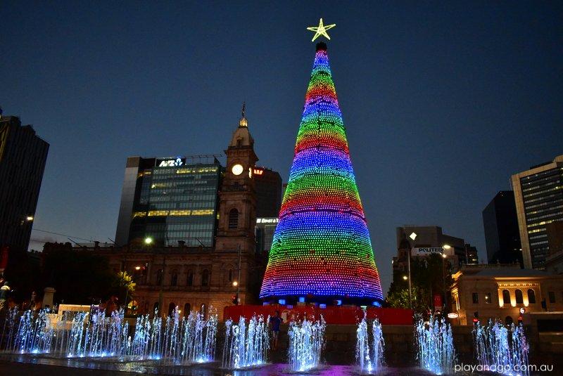 The Christmas Tree.Lighting Of The Christmas Tree Victoria Square