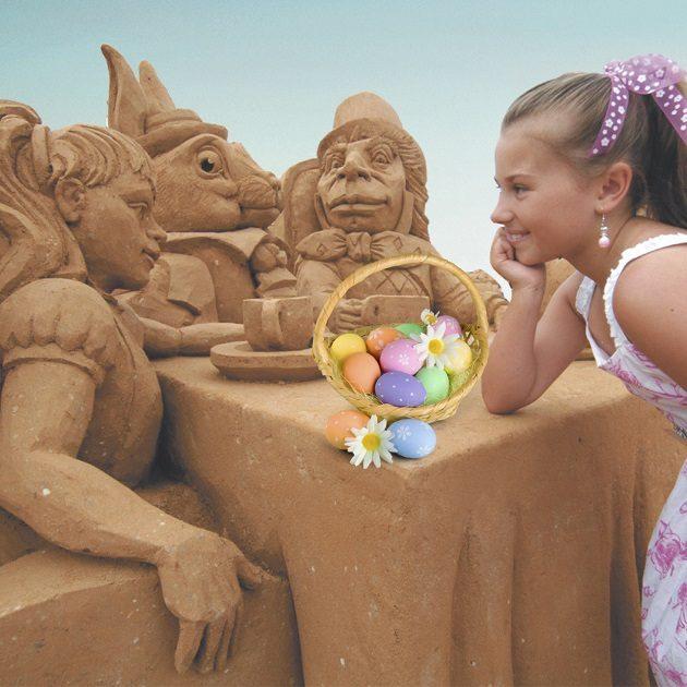 Alice in Wonderland easter egg hunt