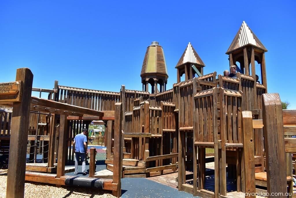 Jubilee Park Onkaparinga Wooden Fort Adventure