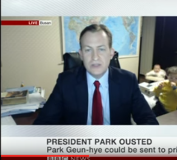 Robert Kelly BBC interview interrupted by kids