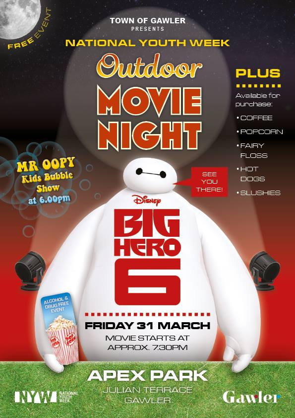 gawler youth week outdoor movie