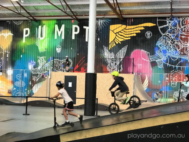 Pumpt indoor BMX, mountain bike & scooter park image credit Susannah Marks