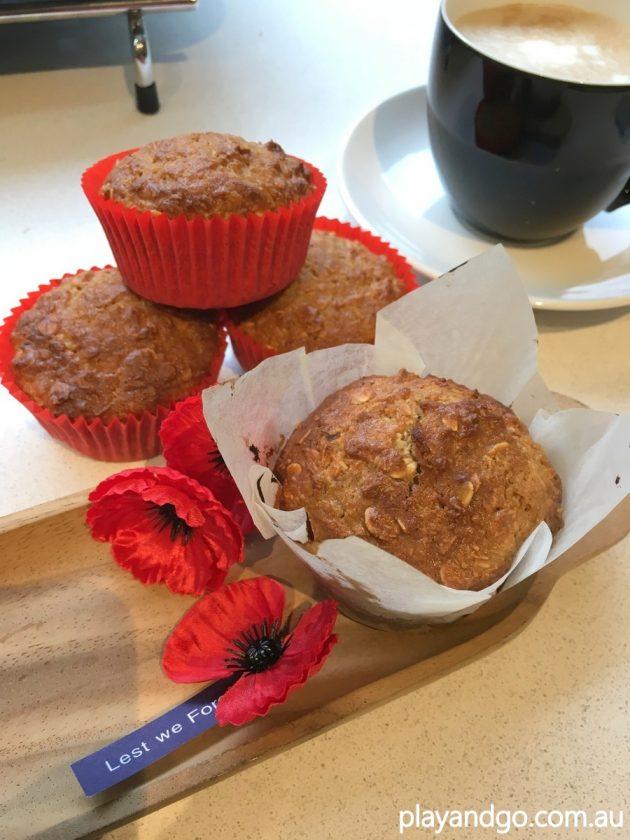 anzac apple cinnamon muffins recipe