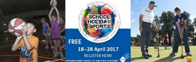 city of charles sturt sports april holidays