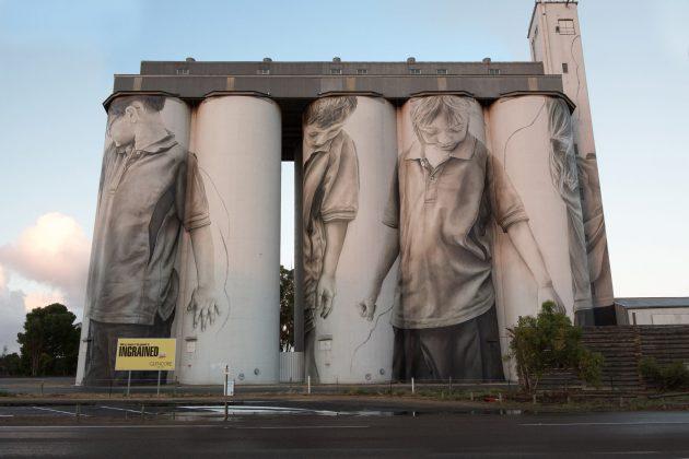 Guido van Helten Coonalpyn silo artwork