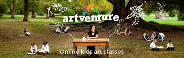 Artventure online kids art classes