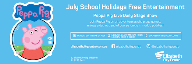Elizabeth City Centre Winter School Holidays July Adelaide