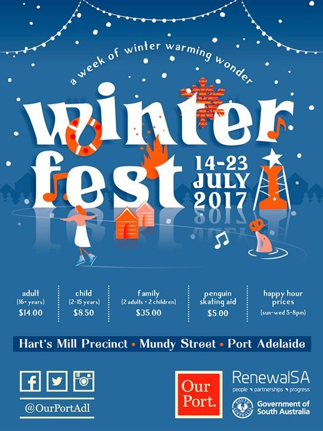 winterfest port adelaide ice skating july