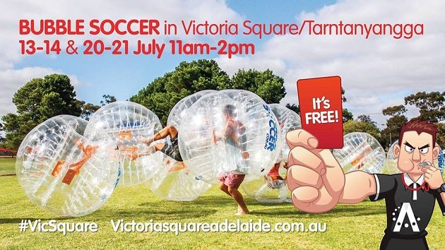free bubble soccer victoria square july 2017