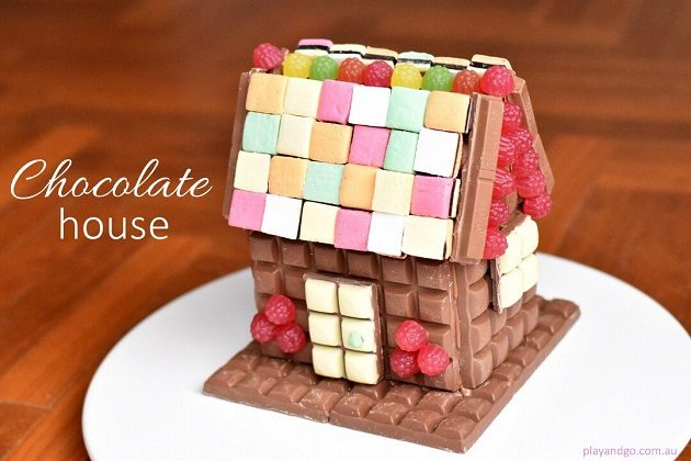 Chocolate House Birthday Cake Like a Gingerbread House only