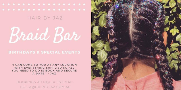 Kids Parties Adelaide Hair By Jaz Birthday Braid Bar
