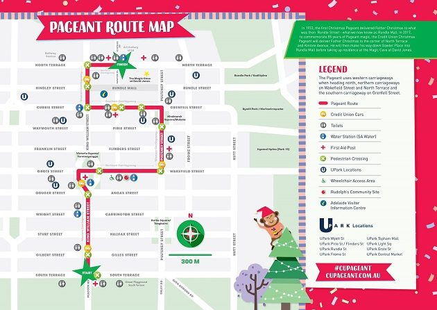 christmas pageant 2017 route map