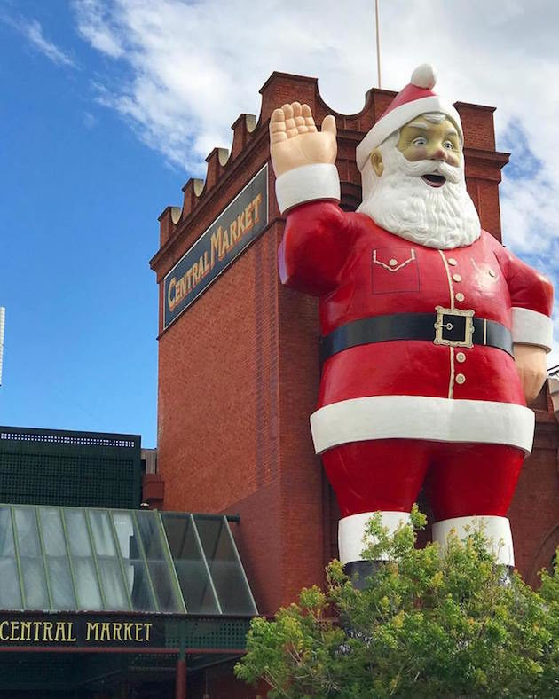 Giant Father Christmas is back