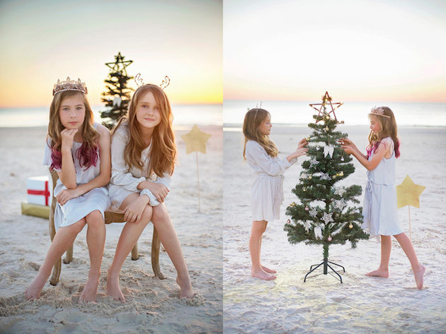 Santa By The Beach Christmas Photography Sessions with My Family Photo