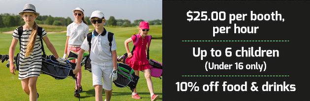 X-Golf Marion indoor golf Adelaide School Holidays